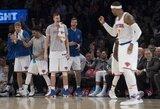 """M.Kuzminskas nuo suolelio stebėjo """"Knicks"""" pergalę ir C.Anthony šou"""