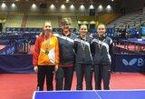 Lietuvos jaunučių stalo teniso rinktinė iškovojo tris medalius Italijos atvirajame čempionate