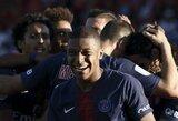 """J.Mourinho perspėja didžiuosius Europos klubus: """"Sėkmės tiems, kas norės įsigyti K.Mbappe"""""""