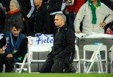"""J.Mourinho apie skaudžiausią karjeros nesėkmę: """"Tai buvo vienintelis kartas, kai verkiau po pralaimėjimo"""""""
