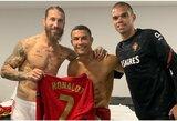 Dvejus metus nesikalbėję S.Ramosas ir C.Ronaldo susitiko po rinktinių rungtynių