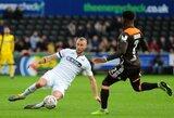 """Anglijos FA taurė: pirmąjį įvartį praleidęs """"Swansea"""" klubas susitvarkė su """"Brentford"""""""