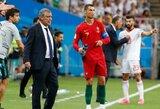 """Portugalijos rinktinės treneris F.Santosas: """"Žmonės kaip C.Ronaldo nori būti geriausi ir kai jiems kažkas nepavyksta, jie būna nusiminę"""""""