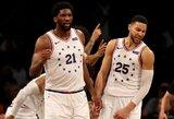 """Brukline: du išvyti žaidėjai, J.Embiido dominavimas ir """"76ers"""" pergalė"""