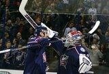 """Įspūdingame mače """"Blue Jackets"""" be atsako įmušė 10 įvarčių į NHL lyderių vartus"""