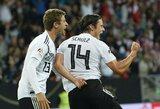 Su Peru vargusi Vokietijos rinktinė laimėjo tik rungtynių pabaigoje