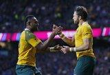 Rekordiškai greitai pirmąjį žeminimą atlikę Australijos regbininkai nugalėjo D.Maradonos palaikomus argentiniečius