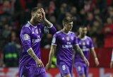 """""""Sevilla"""" atkeršijo ir nutraukė """"Real"""" klubo rekordinę nepralaimėtų rungtynių seriją"""