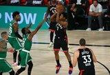 """""""Raptors"""" dviejų pratęsimų trileryje išplėšė lemiamas rungtynes"""