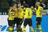 """""""Bundesliga"""" lyderių mūšyje triumfavo Dortmundo futbolininkai"""