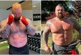 H.Bjornssonas ir E.Hallas rimtai ruošiasi bokso kovai: stebina kūnų pokyčiais