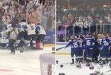 Istorinis pasaulio moterų ledo ritulio čempionato finalas: suomės šventė pergalę, kol sužinojo apie anuliuotą įvartį ir galiausiai pralaimėjo po baudinų serijos