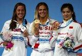 J.Jefimova – pasaulio čempionė, L.King liko be medalio (papildyta)