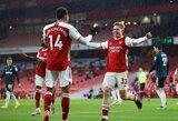 """P.E.Aubameyangas pelnė """"hat-tricką"""", o """"Arsenal"""" iškovojo pergalę"""