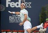 Prastai mačą pradėjęs R.Federeris Majamyje susitvarkė su antrojo šimtuko žaidėju