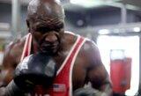 """E.Holyfieldas atsakė M.Tysonui ir paviešino savo treniruočių epizodus: """"Sakiau, kad turiu jums kažką ypatingo"""""""