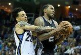 """K.Leonardo vedama """"Spurs"""" trečiąkart įveikė """"Grizzlies"""""""