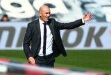 """Z.Zidane'as yra įsitikinęs, kad 100-ąjį įvartį už """"Real"""" pelnęs S.Ramosas liks komandoje: """"Jis mūsų lyderis ir mes jį mylėsime amžinai"""""""