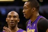 """K.Bryantas apie D.Howardą: """"Sunku palaikyti krepšininką, kuris nori mano komandai išspardyti užpakalį"""""""