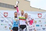 Lietuvos dviračių plento čempionate A.Trebaitė laimėjo ir grupines lenktynes