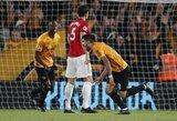 """Fantastiškas R.Nevešo įvartis ir atremtas baudinys atėmė pirmuosius taškus iš """"Manchester United"""""""