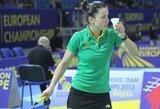 Badmintonininkei A.Stapušaitytei turnyre JAV nepavyko iškovoti pergalių