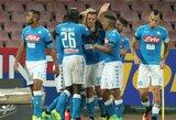 """Šešių įvarčių dramoje A.Milikas debiutiniu dubliu padėjo """"Napoli"""" įveikti """"Milan"""" klubą"""