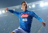 """""""Napoli"""" nugalėjo rungtynes be vieno futbolininko užbaigusius """"Lazio"""""""