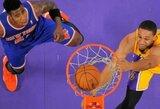 """Neįtikėtinai trečiąjį ketvirtį sužaidę """"Lakers"""" krepšininkai sutriuškino Niujorko ekipą (rezultatai)"""