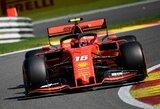 """Belgijoje dominavusi """"Ferrari"""" po 5 mėnesių pertraukos užėmė visą pirmąją startinę eilę"""