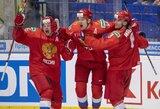 I.Morozovas išgelbėjo rusus pasaulio jaunimo čempionato pusfinalyje, kanadiečiai sutriuškino suomius