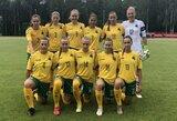 Lietuvos moterų futbolo rinktinė pergalingai startavo Baltijos taurėje