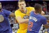 """Emocijų ir diskvalifikacijų kupinose rungtynėse """"Warriors"""" palaužė """"Clippers"""" ekipą"""