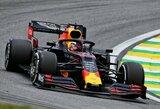 """M.Verstappenas Brazilijoje iškovojo """"pole"""" poziciją, C.Leclerco situaciją sukomplikavo bauda"""