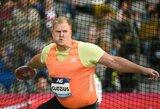 """A.Gudžius po operacijos grįžo į """"Deimantinę lygą"""", favoritai demonstravo įspūdingus rezultatus, olimpinis čempionas liko paskutinis"""