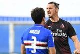 """50-ą įvartį už """"AC Milan"""" komandą pelnęs Z.Ibrahimovičius pasiekė naują rekordą"""