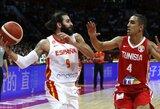 Ispanijos rinktinė nušlavė Tuniso krepšininkus