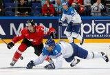 Sensacija pasaulio ledo ritulio čempionate: šveicarai pralaimėjo Kazachstano rinktinei