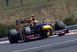 Trečiosiose Vengrijos GP treniruotėse greičiausias buvo M.Webberis