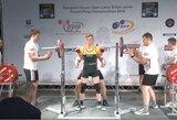Europos jaunimo jėgos trikovės čempionate V.Žibūda pelnė keturis medalius