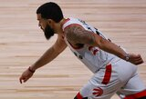 NBA čempionai atkrintamąsias pradėjo tritaškių kruša