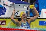 Maskvoje krito pirmasis pasaulio plaukimo rekordas