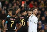 Raudoną kortelę užsidirbęs S.Ramosas pakartojo Čempionų lygos rekordą