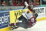 Latviai pasaulio ledo ritulio čempionate neatsilaikė prieš vokiečius