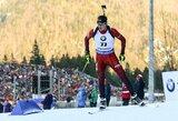 V.Strolia ir K.Dombrovskis Europos biatlono čempionate pateko į persekiojimo lenktynes