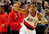 "NBA dienos epizodų viršūnėje – ""Trail Blazers"" gynėjo pamoka D.Nowitzki"