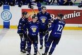 Čekijos ledo ritulininkai savo sirgalių akivaizdoje neatsilaikė prieš suomius