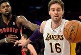 """P.Gasolis praleis dvejas artimiausias """"Lakers"""" rungtynes"""