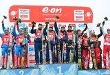 Šeštasis Pasaulio biatlono taurės etapas baigėsi prancūzų vyrų ir Vokietijos moterų estafečių komandų pergalėmis