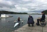 """""""Paralimpinis iššūkis"""": M.Griškonis išbandė A.Navicko valtį"""